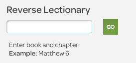 nrsv reverse lectionary