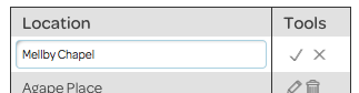account settings, add location
